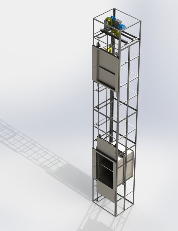 All other elevation products lairdlifts company 1 510 for Exterior dumbwaiter